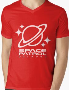 Space Patrol Ogikubo - White Mens V-Neck T-Shirt