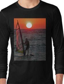 Windsurfer at sunset Long Sleeve T-Shirt