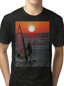 Windsurfer at sunset Tri-blend T-Shirt