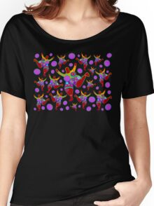 BIG MAMA colorful flower power pattern Women's Relaxed Fit T-Shirt