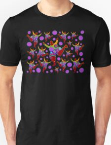 BIG MAMA colorful flower power pattern Unisex T-Shirt