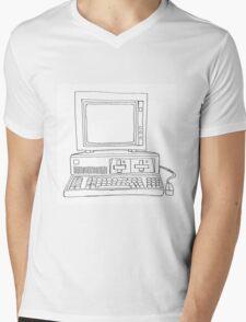 Casual Computer Mens V-Neck T-Shirt