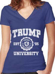 Trump University Women's Fitted V-Neck T-Shirt