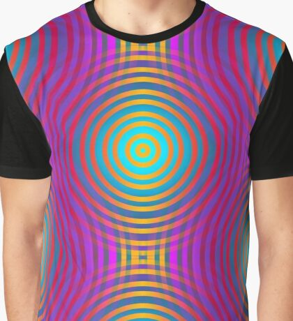 Target Spot & Stripes Neon Colored Graphic T-Shirt