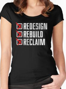 Seth Rollins - Redesign Rebuild Reclaim Women's Fitted Scoop T-Shirt