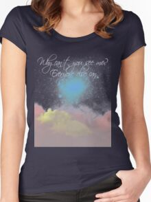 Why can't you see me? Everyone else can. Women's Fitted Scoop T-Shirt