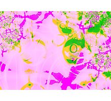 Fractal - psychedelic pastel watercolour Photographic Print