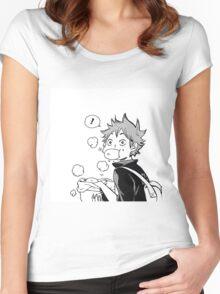 Super cute Hinata Shoyo - Nikuman Women's Fitted Scoop T-Shirt