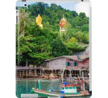 View of Baan Ao Salad port and fishing village on Koh Kood Island, Thailand iPad Case/Skin