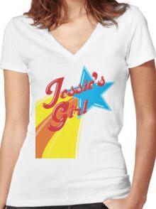 Jessie's Girl Women's Fitted V-Neck T-Shirt