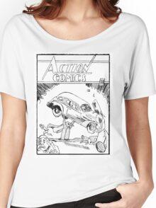 Pengiun Action comics Women's Relaxed Fit T-Shirt
