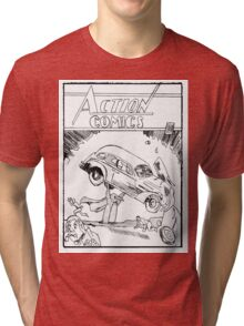 Pengiun Action comics Tri-blend T-Shirt