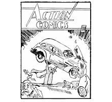 Pengiun Action comics Photographic Print