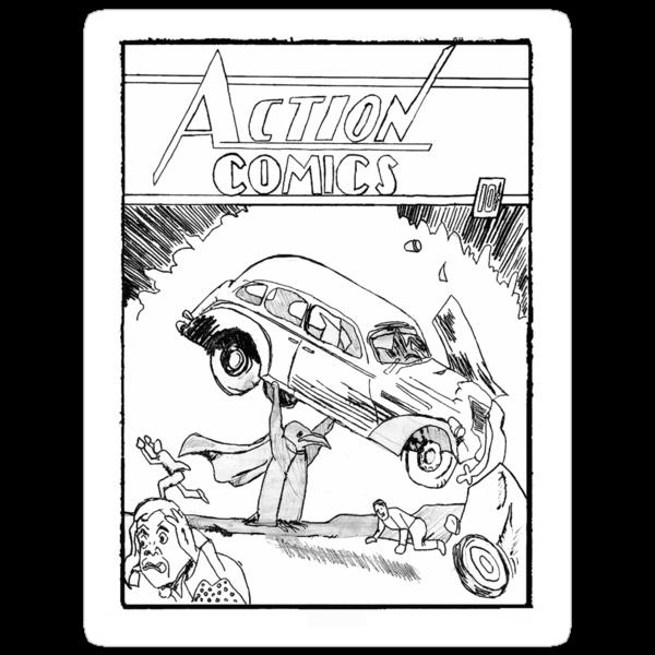 Pengiun Action comics by hermies