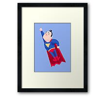 Tiny Hero Framed Print