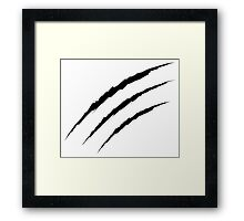 Grunge Cat Scratches Framed Print