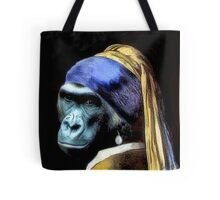 Gorilla With Pearl Earring Tote Tote Bag