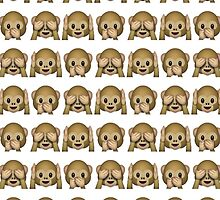 Monkey Evil Faces Emoji Collage by callmeJkay