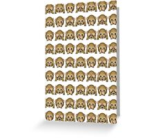 Monkey Evil Faces Emoji Collage Greeting Card