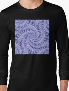 Flower Power Spirals - Blue Mix Long Sleeve T-Shirt