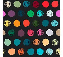 Colorful seamless polka dot pattern Photographic Print
