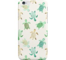 Gilded Jade & Mint Turtles iPhone Case/Skin