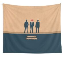Shine Bright Like A Diamond - Corporate Start-up Quotes Wall Tapestry