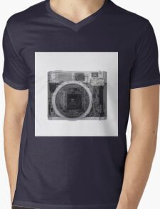 x-ray of a Polaroid camera  Mens V-Neck T-Shirt