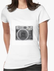 x-ray of a Polaroid camera  Womens Fitted T-Shirt