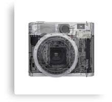 x-ray of a Polaroid camera  Canvas Print