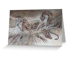 medieval dragons Greeting Card