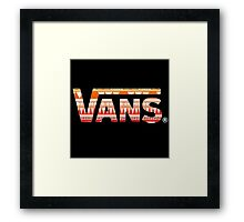 Vans Pink Tribal Print Framed Print