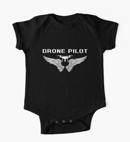 Drone Pilot With Wings One Piece - Short Sleeve