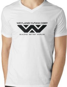 Weyland Yutani - Black Logo Mens V-Neck T-Shirt