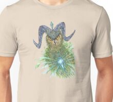 Sacred Blue Owl Unisex T-Shirt