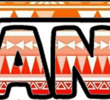Vans Pink Tribal Print Sticker
