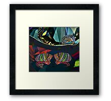2 Dragons = 5 Framed Print