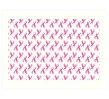 Pink Breast Cancer Ribbon, Breast Cancer Support Art Print