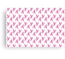 Pink Breast Cancer Ribbon, Breast Cancer Support Canvas Print
