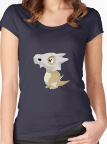 Cubone with Outline Women's Fitted Scoop T-Shirt