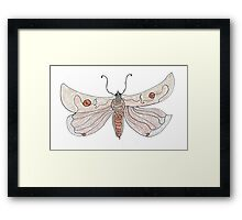 The Endangered Austyn Teal Moth (one-line #123) Framed Print
