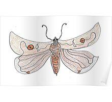 The Endangered Austyn Teal Moth (one-line #123) Poster