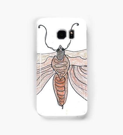 The Endangered Austyn Teal Moth (one-line #123) Samsung Galaxy Case/Skin