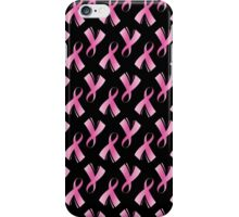 Pink Breast Cancer Ribbon, Breast Cancer Support iPhone Case/Skin