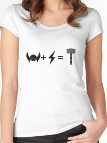 Thor equation Women's Fitted Scoop T-Shirt