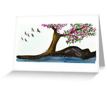 Cherry Blossom Freedom Greeting Card