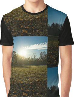 Golden Dew Autumn Sunrise Graphic T-Shirt
