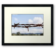 The barbed wire Framed Print