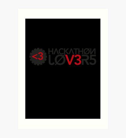 Hackathon Lovers Art Print