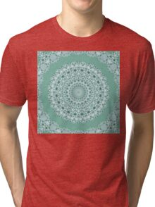 Flower Mandala with Frame - ocean green Tri-blend T-Shirt